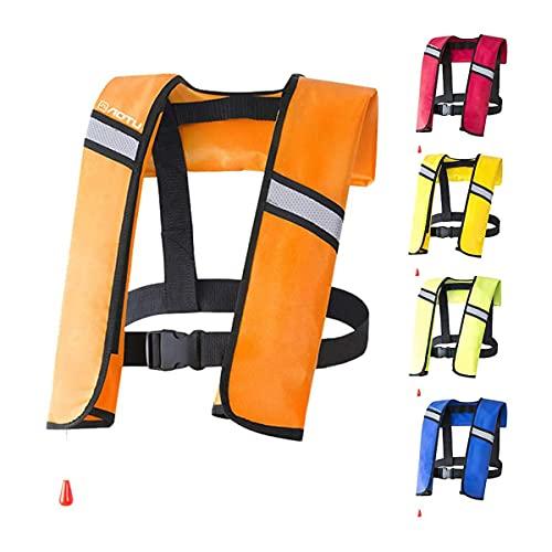 ZWLE Chalecos Salvavidas inflables Chaleco Salvavidas para Adultos de TPU Resistente al desgarro Chaqueta de Supervivencia para Deportes acuáticos, natación, Pesca para Nadar en Kayak