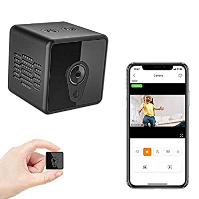 Mini Spy Camera Wireless Hidden, Relohas HD 1080 Spy Hidden Camera Live Streaming, Small Security Camera with Night Vision Motion Activated Spy Cam Nanny Cam, Mini WiFi Camera for Home and Outdoor from Relohas
