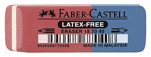 Faber-Castell 187040 - Radierer Latex-free, Tinte/Blei, 7070-40