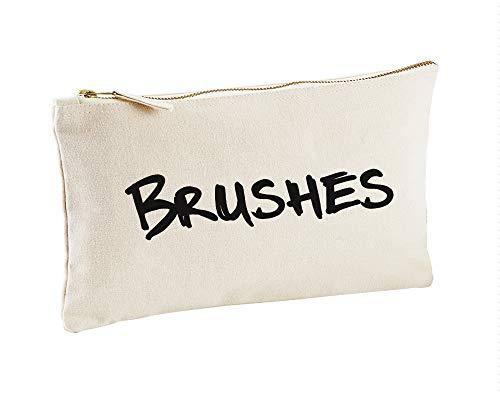 Brosses Toile naturelle Make Up Sac cadeau Idée de cadeau Trousse de toilette Cadeau