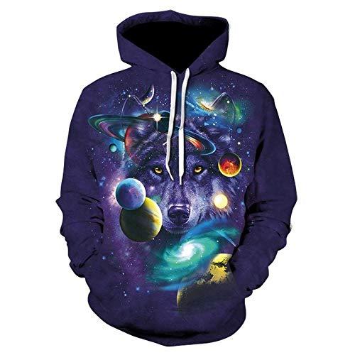 ryyhd 2021 Nueva Sudadera con Capucha Impresa Hombres S 3D Galaxy Space Wolf Sudadera con Capucha Moda Fresca Ropa Deportiva Informal Hombres Y Mujeres Usan Chaquetas-Picture_Color_XXL