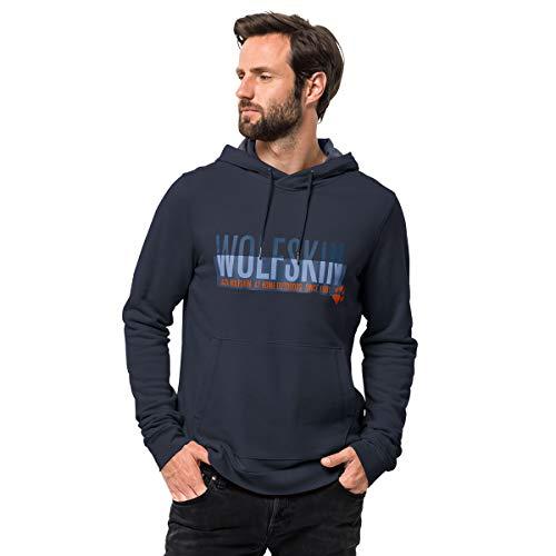 Jack Wolfskin Herren Slogan Hoody Pullover, Night Blue, XXXL