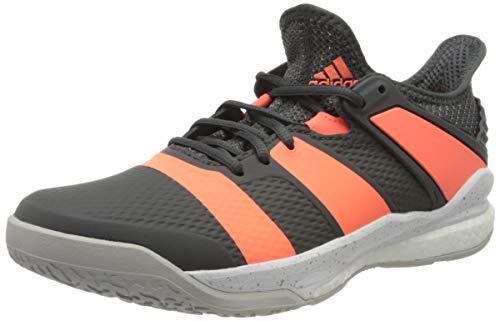 adidas Herren Stabil X Handball Shoe, Grey/Signal Coral/Grey, 45 1/3 EU