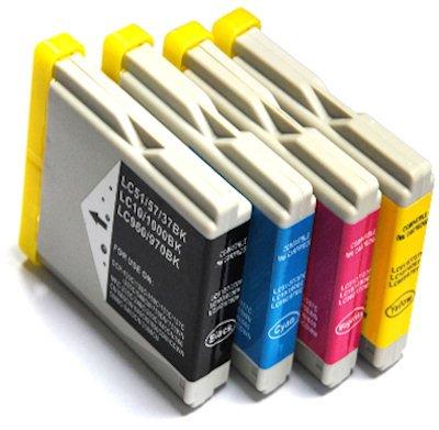 Prestige Cartridge 4 XL Cartuchos de Tinta para Brother DCP-130C DCP-135C DCP-150C DCP-330C DCP-350C DCP-357C DCP-540CN DCP-560CN DCP-770CW MFC-235C MFC-465CN | compatibles para Brother LC1000 LC970