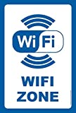 akrocard Panneau en PVC résistant Wi-Fi Zone Signal d'information Idéal pour accrocher et avertir pour magasins, magasins, locaux