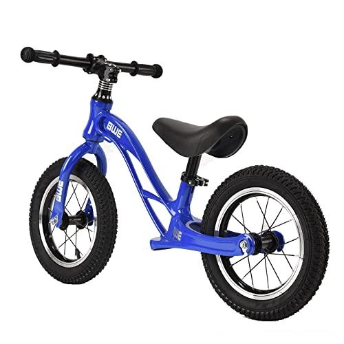 DFBGL Bicicleta de Equilibrio para niños, 12 & # 34;Ruedas, Bicicleta de Entrenamiento de Equilibrio Liviana, Sin Pedales, Asiento Ajustable, Marco de magnesio, Regalo para niños de 2 a