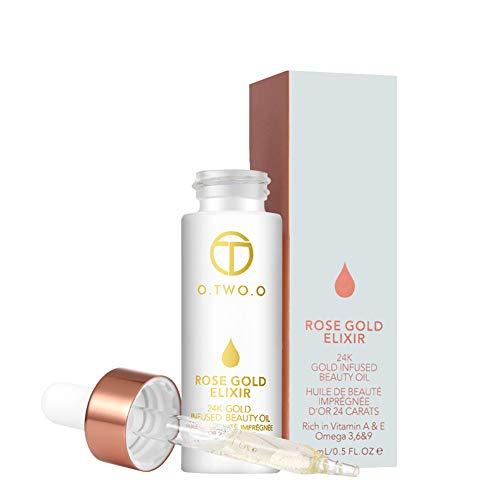Beito 1 STÜCK Rose Gold Elixier Haut Make-Up Öl Schönheitsöl Wesentlich Vor Grundierung Primer Lip Primer Feuchtigkeitsspendendes Gesichtsöl Für Frauen Hautpflege