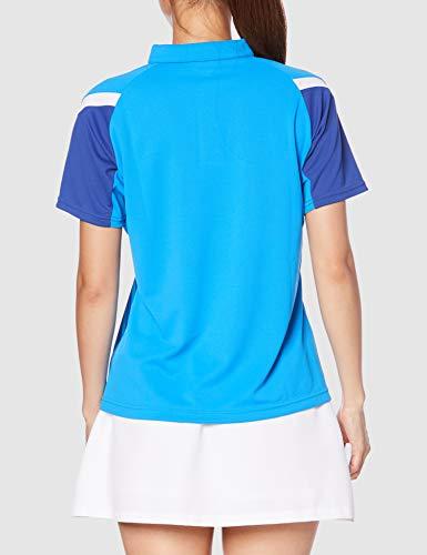 『[Mizuno] テニスウェア ウィメンズゲームシャツ 半袖 62JA0212 ディーバブルー 日本 M (日本サイズM相当)』の4枚目の画像