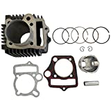 necaces 52.4mm Engine Cylinder big bore kits with Gaskets and Piston Pin Ring Kit for 4 Stroke 110cc Dirt Bike Chinese TaoTao ATV Go Cart