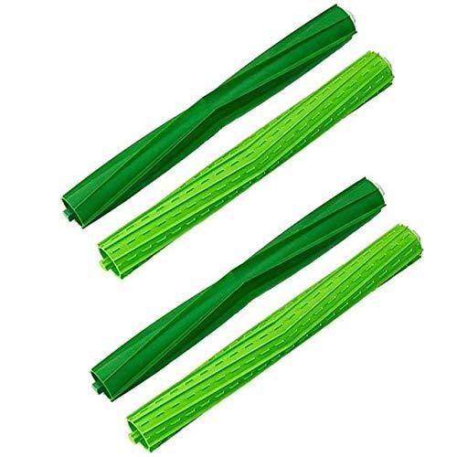 Style wei Accesorios para Aspiradora El Cepillo de Rodillo de Piezas de Repuesto for IRobot Roomba S9 (9150) S9 + S9 Plus (9550) S Series Vacuum Cleaner Dual Rubber Cepillos (Color : Green)