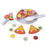 Balacoo 1 Juego de Juguetes de Imitación para Cortar Juegos de Comida Rápida para Niños Pizza Juguete de Cocina Juego de Cocina Accesorios para Niños Niñas Regalo de Cumpleaños