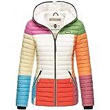 Navahoo Damen Jacke Steppjacke Übergangsjacke gesteppt Colour Blocking B841 [B841-Multikulti-Mix-Gr.L]