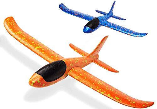 FunBlast Foam Airplane Gliders, Pack Of 2, Multi Color
