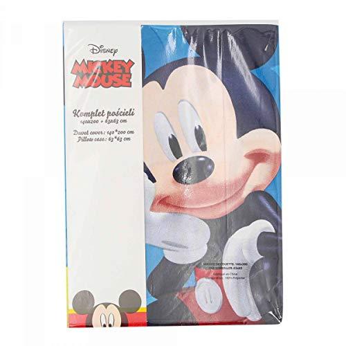 Mickey - Funda nórdica de 140 x 200 cm y funda de almohada de 63 x 63 cm