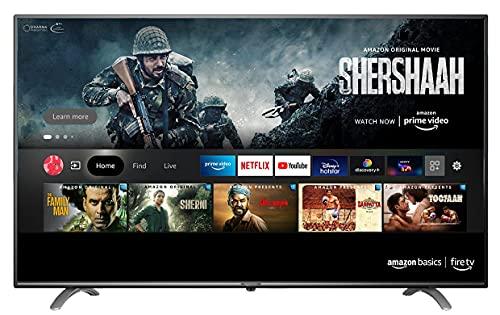 AmazonBasics 108cm (43 inch) Full HD Smart LED Fire TV AB43E10DS (Black)