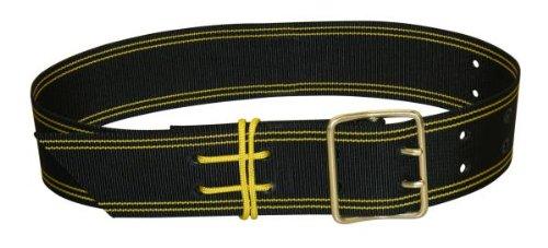 Kerbl Glockenriemen PE, 2 Dorne, mit Schnur, schwa/gelb 50mmx110cm