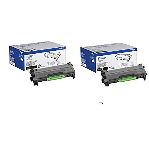 Brother Genuine TN850 2-Pack High Yield Black Toner Cartridge with Approximately 8,000 -