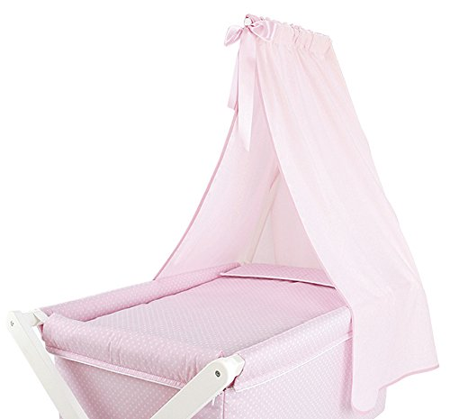 Dosel Tejido Minicuna Tijera rosa
