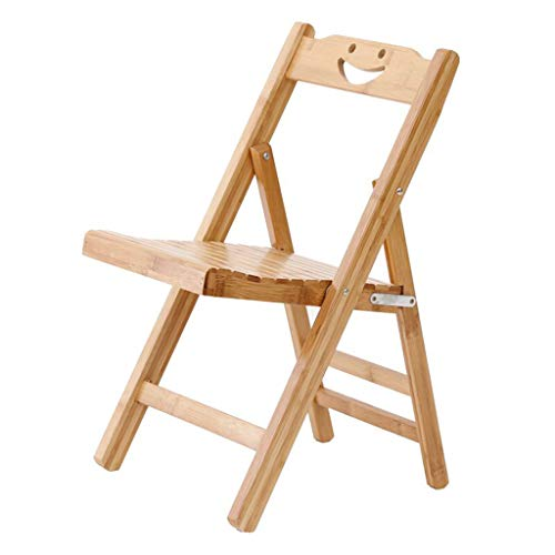 TD26 Chaise pliante en bois massif Chaise bambou pour enfants, retour Chaise d'ordinateur moderne simple nordique Repas Mahjong Chaise de bureau