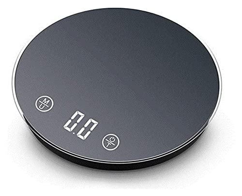 Cocina de Alta precisión Cocina Digital Escala Impermeable USB Recargable Recargable Escala de precisión de precisión. (Color : Black)