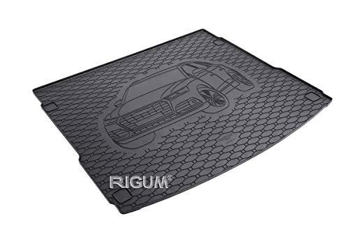 RIGUM Passgenaue Kofferraumwanne geeignet für Audi Q5 ab 2017 + Autoschoner MONTEUR