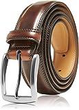 Genuine Leather Dress Belts For Men - Mens Belt For Suits, Jeans, Uniform Brown Belt - Designed in the USA