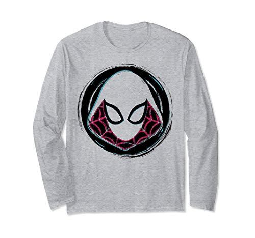 Marvel Spider-Gwen Face Symbol Badge Long Sleeve