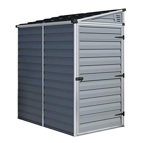 Rowlinson Palram Skylight Pent Shed 4x6ft, Storage, Grey