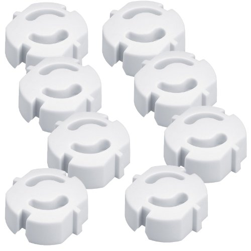 Steckdosen-Kinderschutz, 8 Stück, Steckdosensicherung steckbar, Kinderischerung für Steckdosen