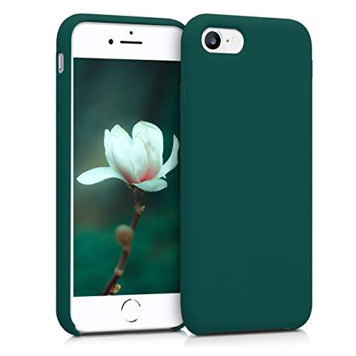 kwmobile Cover per Apple iPhone 7/8 / SE (2020) - Cover Custodia in Silicone TPU - Back Case Protezione Cellulare Verde Bottiglia