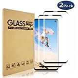 MakBea Screen Protector for Samsung Galaxy S10,Full Coverage Tempered Glass [Anti-Scratch][High Definition][Designed