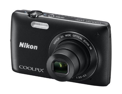 """Nikon Coolpix S4300 Fotocamera Digitale Compatta, 16 Megapixel, Zoom 6X, 3200 ISO, LCD 3"""", colore: nero [Versione EU]"""