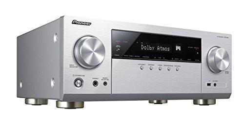 Pioneer 7.2 Kanal AV Receiver, VSX-933-S, Hifi Verstärker 135 Watt/Kanal, Multiroom, WLAN, Bluetooth, Streaming, Dolby Surround-Dolby Atmos-DTS:X, Musik Apps (Spotify, Tidal, Deezer), Silber, 1500586