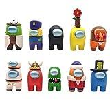 BakaKa Entre Nosotros Figura de Juguete 10 Piezas Lindas Figuras de Juego muñecas muñecas de Dibujos Animados decoración del Coche del hogar Regalos para fanáticos del Juego niños niñas