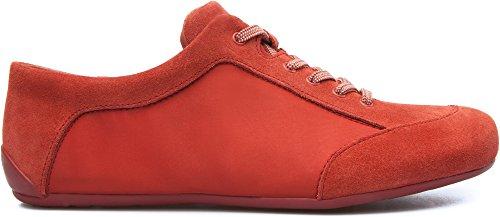 Camper Peu Summer Senda - Zapatos de Cordones, Mujer, Rojo, 36