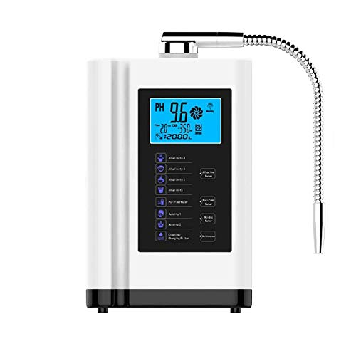 Ionizador de agua alcalina, Purificador de agua Máquina PH alcalino 03.05 a 10.05 Máquina Ácido agua, hasta -500mV ORP, 6000 litros por filtro, 7 Ajustes de agua, auto-limpieza, inteligente de la voz