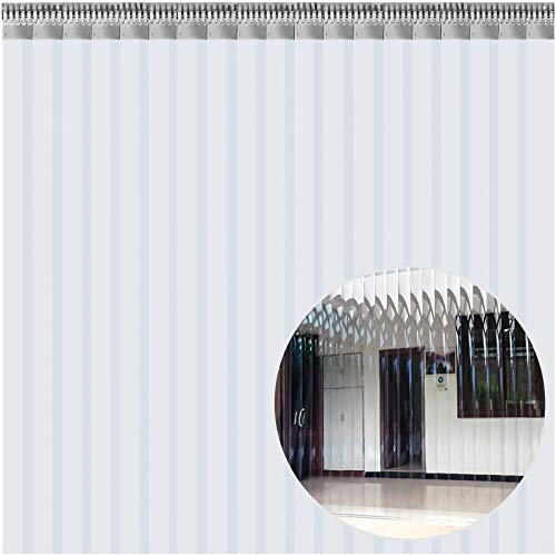 VEVOR Cortina Puerta PVC Transparent, 3x2,75 m, Material Impermeable Transparente PVC 19 Tiras Total, Cortina Puerta PVC para Supermercados, Tiendas, Casas, Fábricas