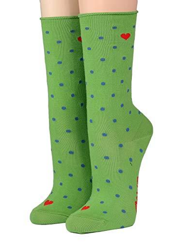 CRÖNERT Socken Longsocks Söckchen My Valentine 18314 (39/42, grün 1977)