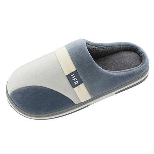 Cómodas Zapatillas de Algodón Antideslizantes de Interior TOPKEAL Zapatos Cálidos de Terciopelo para Mujeres y Hombres