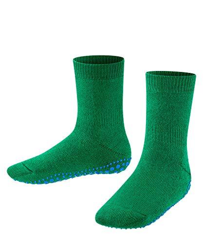 FALKE Unisex Kinder Catspads K HP Hausschuh-Socken, Blickdicht, Grün (Grass Green 7290), 31-34