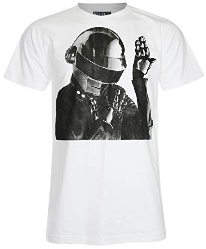 Unisex's Daft Punk Retro, Gift Inspired T Shirt (White, L)