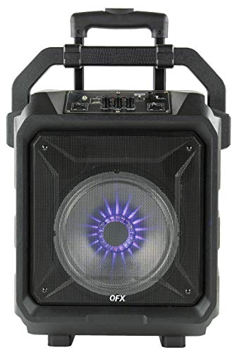 """QFX PBX-70 8"""" Rugged Bluetooth Portable Party Speaker"""