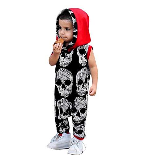 Ode-joy Bambino Bambina Maschio Manica Corta Stampa Taro Cappuccio Ha Yi Onesies Neonata, Neonato Ragazzi Bone Tuta Pagliaccetto Costume Vestito Strega Baby Halloween Carnevale Bambina