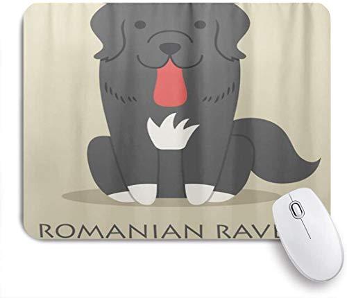 VORMOR Mauspad - Rumänischer Schäferhund Rabe - Gaming und Office rutschfeste Gummibasis Mauspads,240×200×3mm