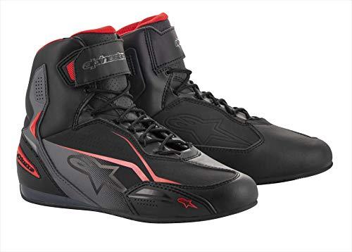 Alpinestars Faster-3 Shoes Black Gray Red, Schwarz/Grau/Rot, 46, 2510219131-46