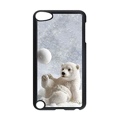 Único Caja del Teléfono De Plásticos Duros Compatible con Apple Touch 5 para Mujeres Tener con Polar Bear
