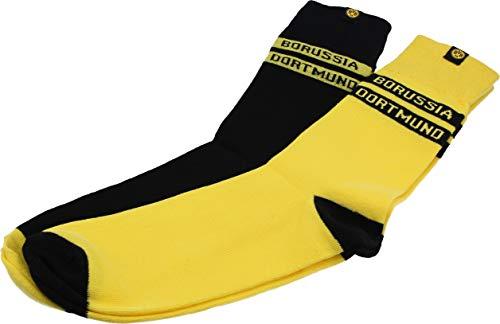 Borussia Dortmund Unisex Bvb-socken (2er-pack) Socken, Schwarz/gelb, 43-46 EU