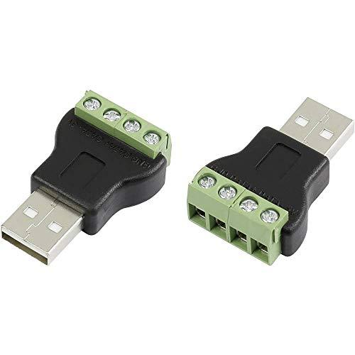 USB-Steckverbinder mit Schraubanschluss Stecker, gerade LT-USB4M USB-Stecker Typ A TRU COMPONENTS Inhalt: 1 St.