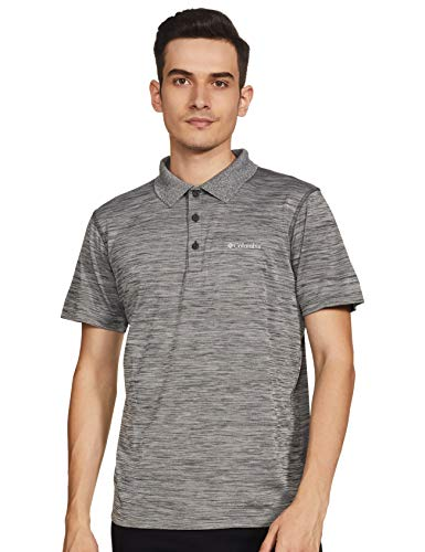 Columbia Kurzärmliges Poloshirt für Herren, Zero Rules Polo, Polyester, grau (Shark Heather), Gr. S, AM6082