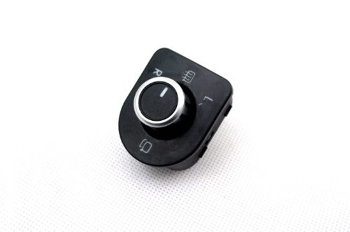 ZHANGJIN Mad Matt Cromo Vista Trasera Espejo MANDARIO DE Interruptor (Soporte de Espejo de Calor y Pliegue) Ajuste para VW Volkswagen Golf MK4